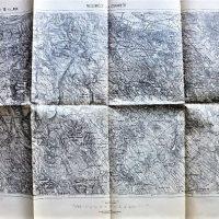 Neszmely und Zsambek Ungarn Landkarte 1911