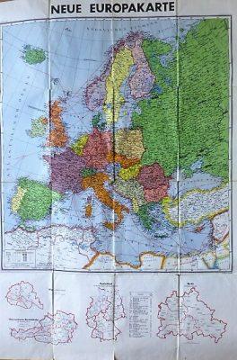 Neue Europakarte 1948 Wien