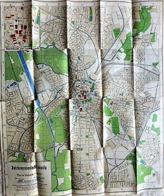 Reichsmesse Leipzig Plan der Reichsmessestadt 1941