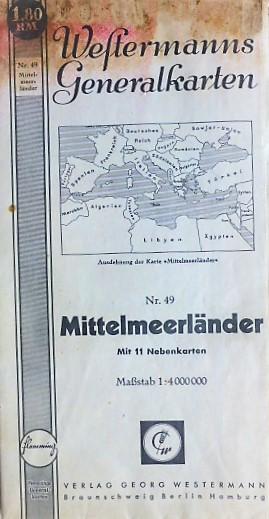 Westermanns Generalkarten Mittelmeerländer 1940