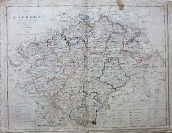 Charte von Boehmen K.I. Kiferling Wien 1806
