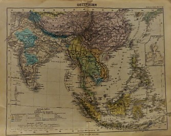 East India Ostindien old map  Gotha Justus Perthes