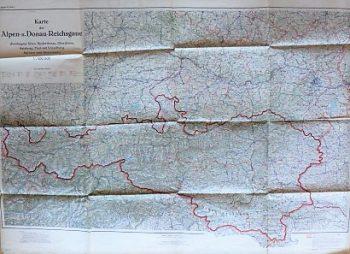 Karte der Alpen- und Donau-Reichsgaue Wien 1943
