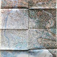 Triest Udine Umgebung Italy Landkarte 1909