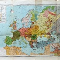 Völkerkarte von Europa Ethnographische Übersicht