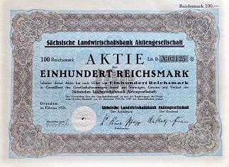 Sächsische Landwirtschatsbank Aktiengesellschaft 1926
