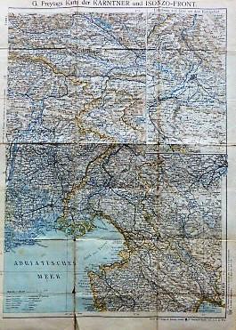 Karte der Kärntner und Isonzo-Front map