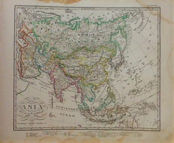 Asia Asien Landkarte 1867 Asia old map