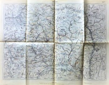 Beceni Rumanien Landkarte 1913 Romania map