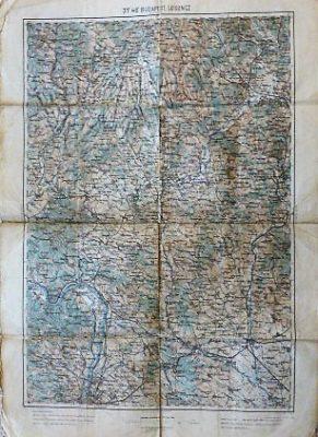 Budapest Losoncz Ungarn Slowakei Landkarte 1914