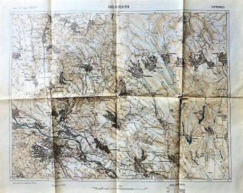Csernovic Ukraine Landkarte russisch 1916