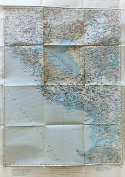 Scutari Shkoder  Albanien Montenegro Landkarte