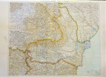 G. Freytags Karte von Rumanien Romania old map