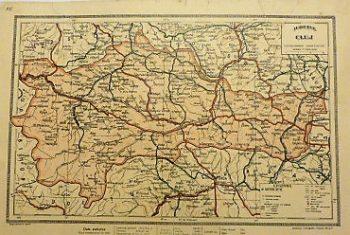 Judetul Cluj Harta Rumanien Landkarte Romania old map 1930