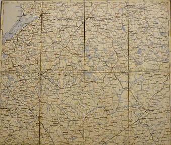 Königsberg Guttstadt Bielostok Suwalki Polen Landkarte 1883 Kalinyingrad  Poland old map