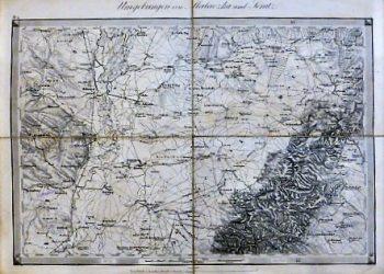 Malacka Senitz Szenice Zistersdorf Umgebungen Landkarte 1878