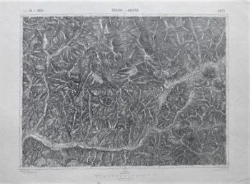 Rodna Nasaud Rumanien Landkarte Romania old map 1912