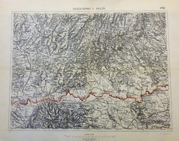 Sahy Balassagyarmat Slovakei Ungarn Landkarte Slovakia Hungary old map
