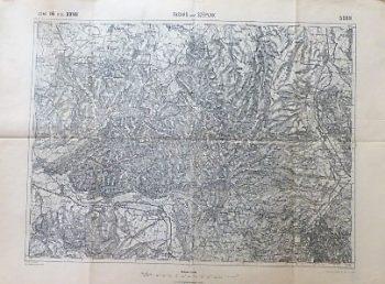 Tasnad Széplak Suplacu de Barcau Margita Rumanien Landkarte Romania old map 1912