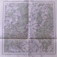 Baraolt si Feldioara Harta Romania Landkarte Rumanien old map Romania