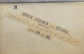 Brinje Ledenica Ostaria Krmpote Klenovica Kroatien Landkarte Croatia map