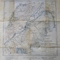 Chamonix Mont Blanc Carte map Landkarte 1925