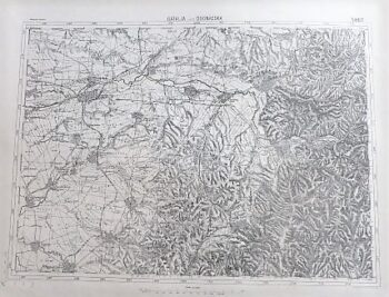 Gátalja Dognácska Gataia Dognecea Rumanien Landkarte Romaia old map