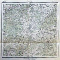 Harta Transilvaniei Hátszeg Rumanien Landkarte Romania old map 1916
