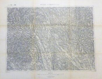 Hartberg und Pinkafeld Österreich Landkarte 1894