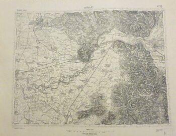 Kispalád Vinogradiv Huszt Theiss Ukraine Landkarte Ukraine old map 1931