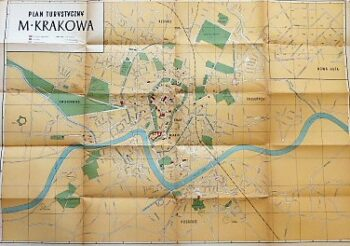 Krakau Polen Plan Krakow old map Krakowa Plan