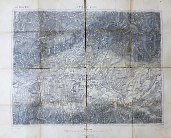 Liptovszky Miklas Ungebung Slovakei Landkarte old Slovakia map