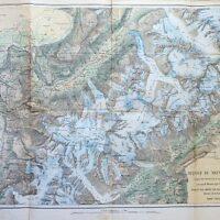 Massif Du Mont Blanc Carte 1865 Chamonix map