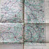 Reims France Carte Aviation Luftfahrt Landkarte 1936