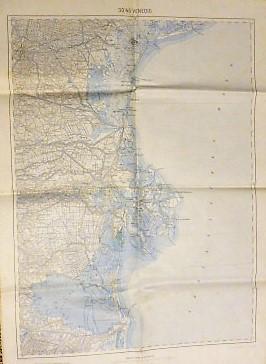 Venedig Venezia Venice Padua Padova Umgebung Landkarte Italien Italy 1915