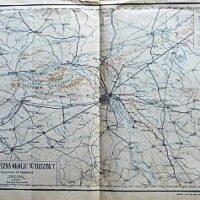 Warschau Umgebung Landkarte Warsaw old map Warszawa mapa