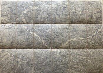 Blaj Micasasa Umgebung Rumanien Landkarte Romania old map