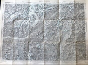 Brig Airolo Blatt XVIII Dufour Karte Schweiz