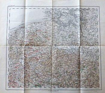 Brussels Bruxelles Bruges Antwerpen Belgien Landkarte Belgium old map 1881