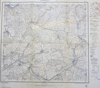 Epfenbach Umgebung Landkarte 1933 old map Germany