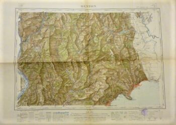 Menton carte Umgebung Frankreich Landkarte Menton surroundings France old map 1909