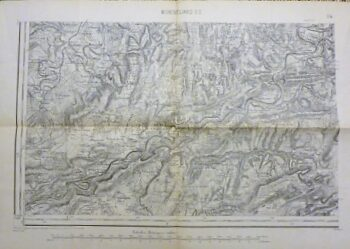 Montbéliard S.O. France carte Landkarte old map France 1896