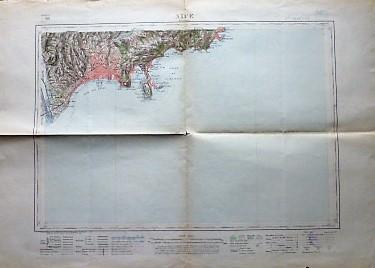 Nice Nizza Monaco France Frankreich carte Plan old map 1924