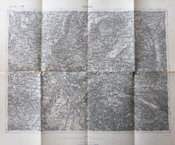 Salzburg Umgebung Landkarte Austria old map 1891