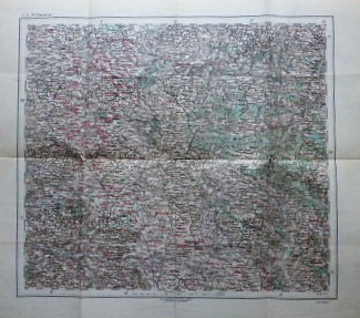 St Quentin Frankreich Landkarte France old map