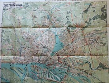 Carly's Plan von Hamburg Altona Wandsbek Umgegend 1900