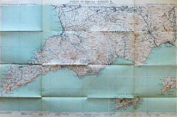Golfo Di Napoli Foglio II. 1930 Italien Landkarte Italy old map