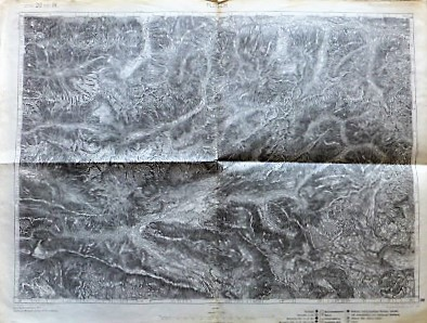 Flitsch Bovec Umgebung Slowenien Landkarte Slovenia old map 1914