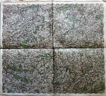 Luxemburg Landkarte 1881 old map Luxembourg