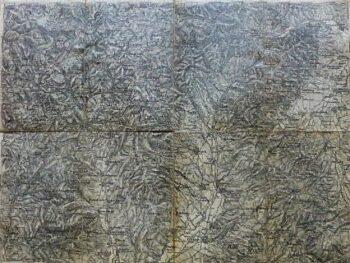 Prievidza Ungebung Skovakei Landkarte Slovakia old map